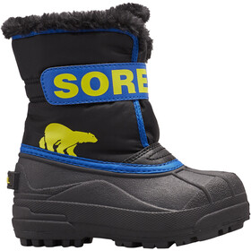 Sorel Snow Commander Stiefel Kinder black/super blue